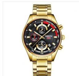 Relógio Original Nibosi em Aço Inoxidável, 90 Garantia e Frete Grátis. ZAP *33