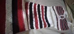 Título do anúncio:  V/T Conjunto de tricor saia longa