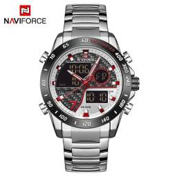 Relógio Naviforce Masculino Aço Inox Prateado Modelo Nf9171