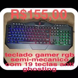 Título do anúncio: Teclado gamer rgb 19 teclas anti ghosting Lehmox gt-t5