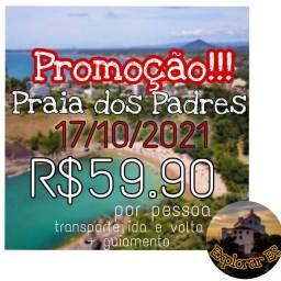 Título do anúncio: Passeio na Praia dos Padres Em Guarapari 17/10.
