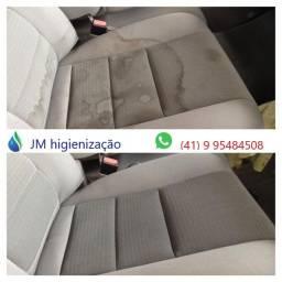 higienização veicular - limpeza interna de carro