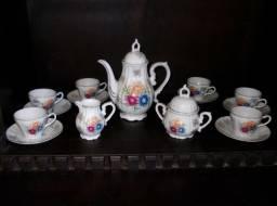 Jogo de Porcelana de Café Antigo Importado do Japão
