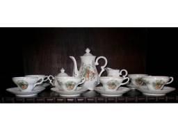 Jogo de Chá de Porcelana Japonês Antigo