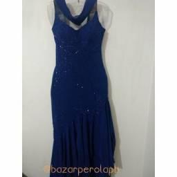 Vestido de festa azul turquesa seminovo
