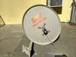Antena + Decoder sky pré-pago