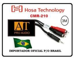 Hosa Technology CMR-210 cabo P2 estéreo x duplo RCA 90cm ñ Santo Angelo Neutrik