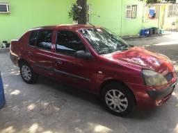 Clio Sedan, 2005, 1.0 16v, Trava, Vidro e Ar Cond - 2005