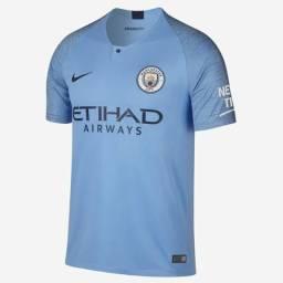 Camisa Manchester City Home 2018 s n° - Torcedor Nike Masculina - Azul Claro 4e8c3d68140ed