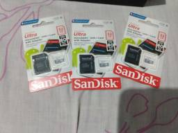Cartão de memória 32GB novos e lacrados