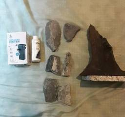 Pedras + tronco + stability + bomba