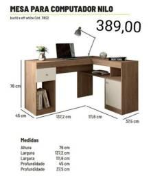 Mesa em L para escritorio