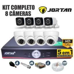 Promoção 8 Câmeras Hd Completas Dvr Nano Led's instaladas Cftv (Brinde Microfone Espião)