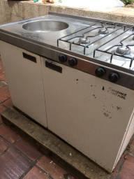 Compacto Geladeira Forno Pia Armário Restaurar