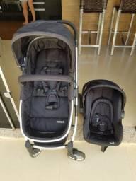 Carrinho de bebê Travel System Epic Lite Duo+Base Isofix Infantil Onyx