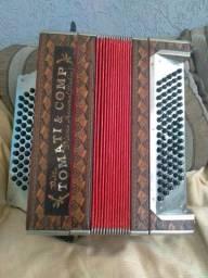 Título do anúncio: Vendo um acordeon cromática de 80 baixos