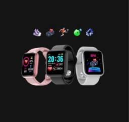 Smartwatch Y68/D20 Relógio Inteligente  com monitor cardíaco Bluetooth prova d´água
