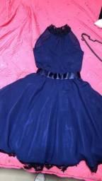 Título do anúncio: Vestido de festa azul marinho