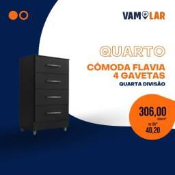 Título do anúncio: Cômoda Flavia 4 Gavetas (Entrega Rápida/Frete Grátis)
