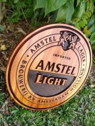 Título do anúncio: Quadro Cerveja Em Madeira Maciça