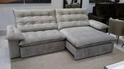 sofa retratil e reclinavel pillow top em black friday antecipada