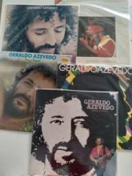 Vinil de Geraldo Azavedo (cinco Lp's)