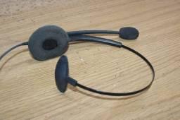 Headset com Discador Telemarketing (Ler Observações) Intelbras / HSB50 em Plástico Preto