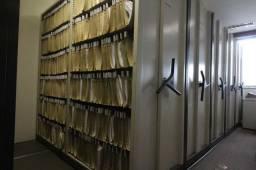 Arquivo Deslizante / 8 módulos / em Metal Cinza 210 cm x 576 cm x 213 cm