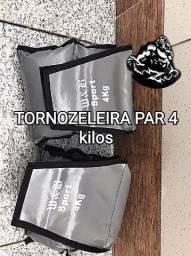 Tornozeleiras peso (O PAR) 4 E 5 KILOS