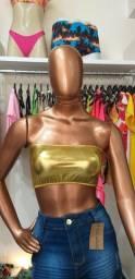 Título do anúncio: Top Dourado Tamanho M R$ 19,99