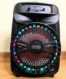 Caixa de Som 2000W Feiyipu Bluetooth Microfone e Controle!