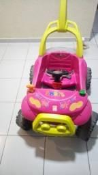 Carro de passeio infantil rosa