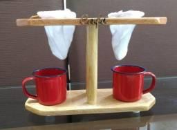 Título do anúncio: Cafeteira Artesanal de Madeira Dupla