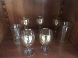 Jogo 5 taças 2 copos