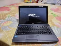 Título do anúncio: Notebook Acer core i3 HD 320 RAM 4 GB bateria segura pouco tempo teclado bom