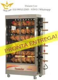 Máquina de 30 frangos 6 espetos,assadeira de frango, frangueira - Com Brinde