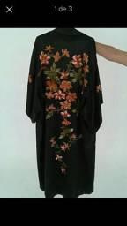 Roupão estilo quimono