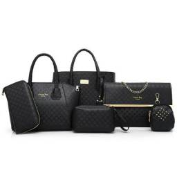 Conjunto De Bolsas Femininas Com 6 Peças
