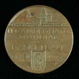 Medalha Em Bronze Ii Campeonato Mundial De Basketball - 1954