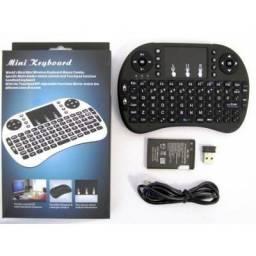 Mini Teclado e Touch Pad WiFi TV Smart TV Box PC Notebook Celulares Grátis 1 Brinde