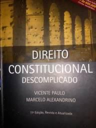 Livro de direito constitucional descomplicado