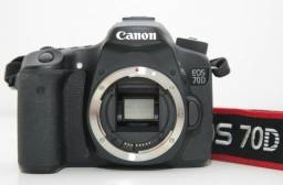 Câmara Canon 70D fotográfica e video Full HD