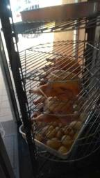 Maquina de assar frango giratória