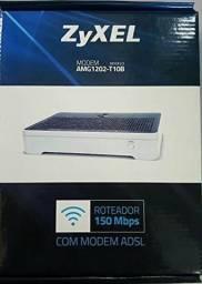 Modem Roteador ADSL ZyXEL Novo