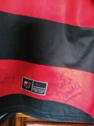 Camisa do Flamengo original autografada.Tam G