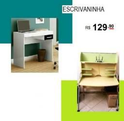 Escrivaninhas R$ 129,90 em 12 Vezes