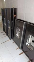 Pia de granito preto São Gabriel 1.20x55