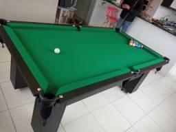 Mesa de Bilhar Charme Preta Tx Tecido Verde Modelo LKJ6958