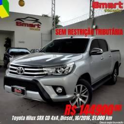 Smart Veículos - TOYOTA Hilux SRX 4x4, 16/2016, 51.256 Km. R$ 144.900,00 - 2016