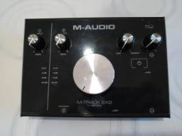 Placa Interface M-áudio M-track 2x2 zero!